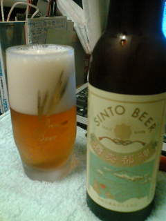 【写真】グラスに注がれた神都麥酒