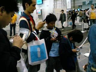 【写真】Wiiの順番待ち
