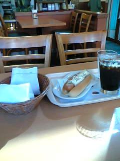 【写真】チーフォンドッグ オニポテセット + モスライスバーガー海鮮かきあげ