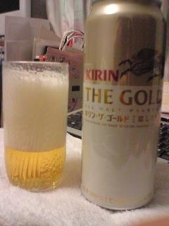 【写真】キリン・ザ・ゴールド 500ml缶を開けてみた。