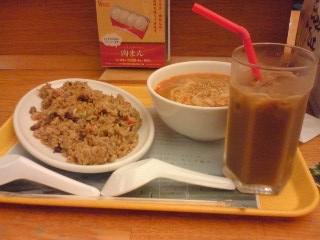 【写真】ミスター飲茶の黒チャーハンと金胡麻坦々麺セット