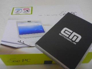 【写真】イーモバイル データ通信端末 + Eee PC901