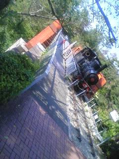 【写真】鉄橋と蒸気機関車