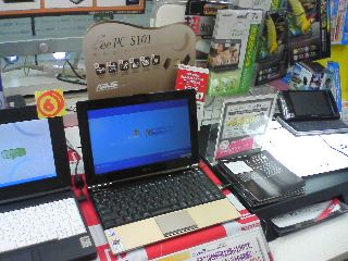 【写真】展示されてたEee PC S101の実機