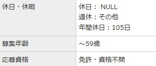 【スクリーンショット】休日:NULL