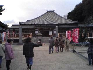 【正月】夕暮れ時の岩屋寺