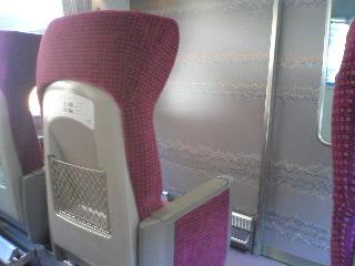 【写真】がら空きのデラックスシート席