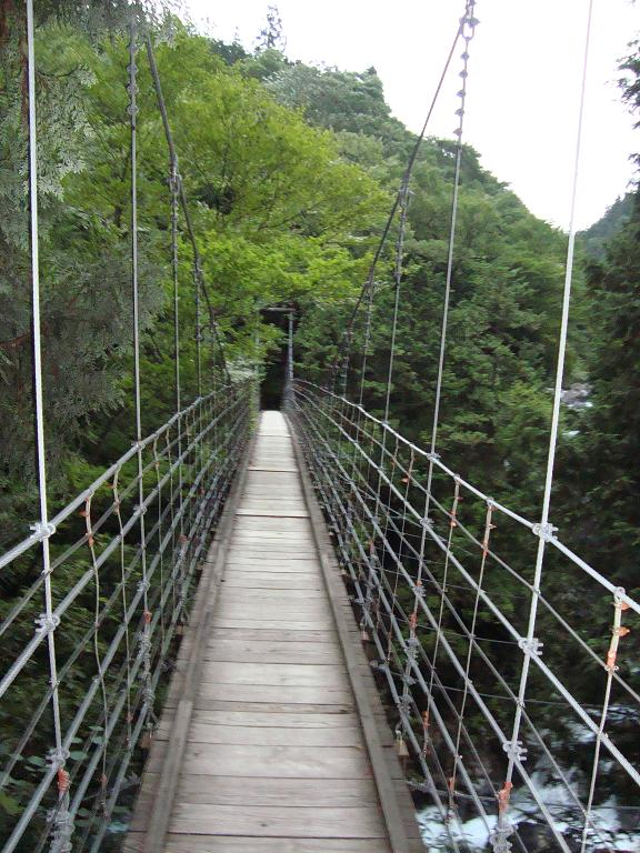 【写真】付知峡のつり橋