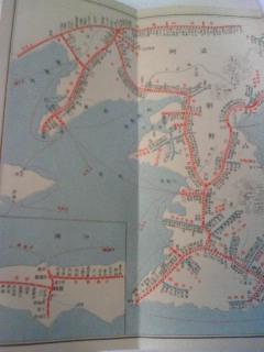 【写真】最後のページに掲載されている朝鮮と沖縄の路線図。