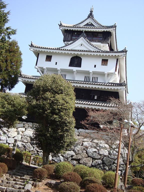 【写真】岩国城の天守。中は4階に整備されていた。