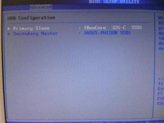 【写真】BIOSメニューで換装したSSDがプライマリドライブとして認識されていることを確認