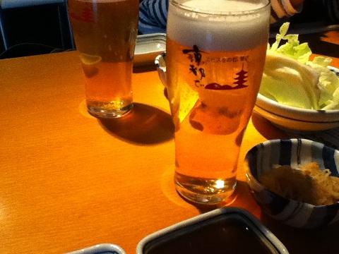 【写真】串ぜんでビール