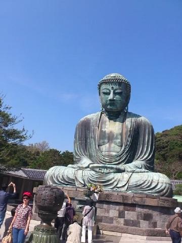 【写真】鎌倉の大仏も見た。