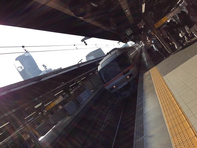 【写真】名古屋駅ホームへ入線するワイドビュー南紀