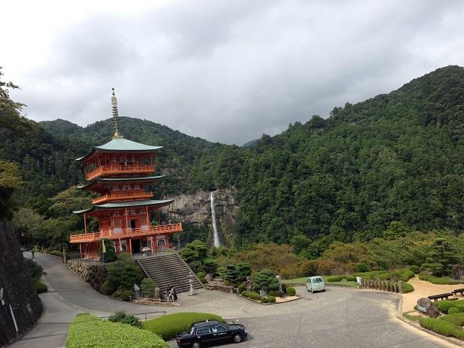 【写真】三重の塔と那智の滝