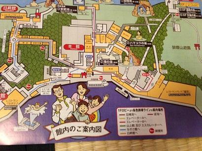 【写真】ホテル浦島の館内案内図