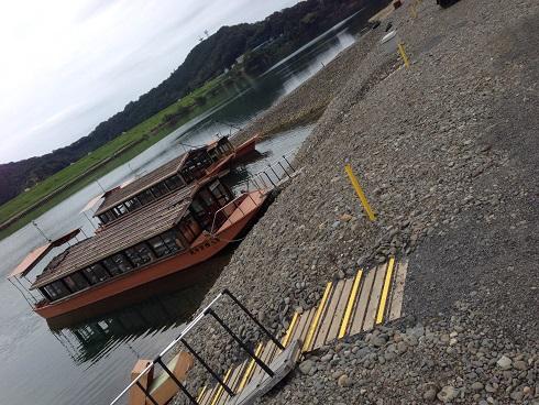 【写真】四万十川で乗船した屋形船