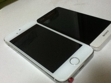【写真】iPhone 5sとXperia SX
