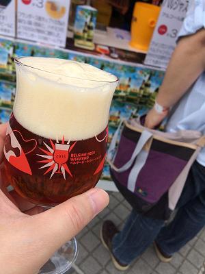 【写真】ベルギービールと専用グラス