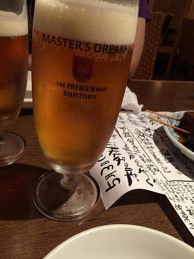 【写真】珍しいマスターズドリームの生ビール