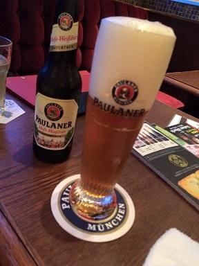 【写真】瓶ビールのポーラナー ヘーフェ ヴァイスビア