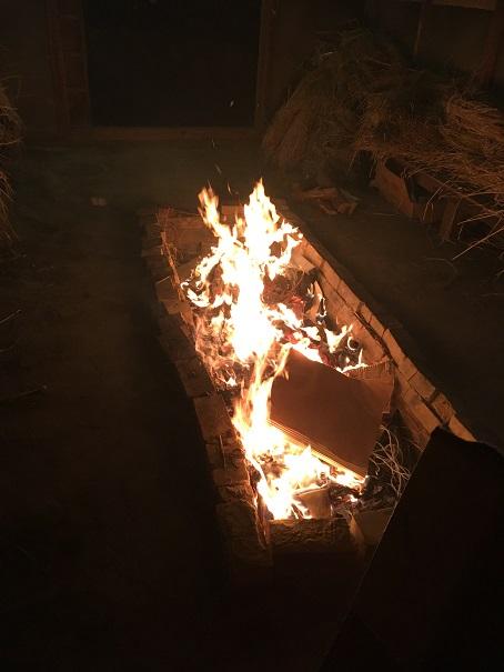 【写真】篝火の燃える様子