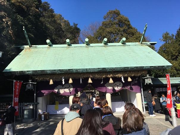 【写真】神前神社の参拝列