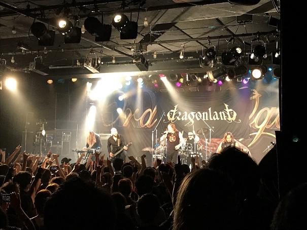 【写真】Dragonlandのステージ