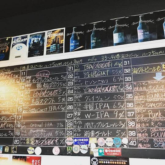 【写真】新潟駅クラフトビール館のタップリスト