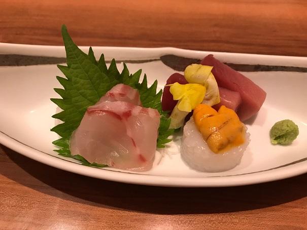 【写真】凪のコース料理で出たお刺身