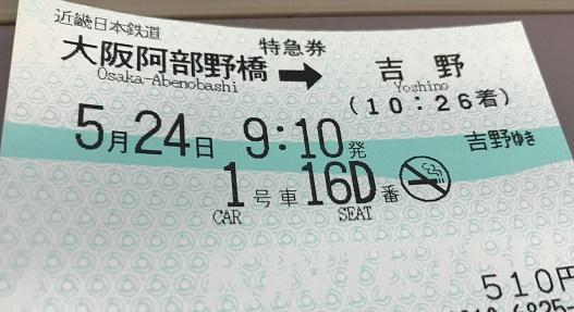 【写真】近鉄の特急券