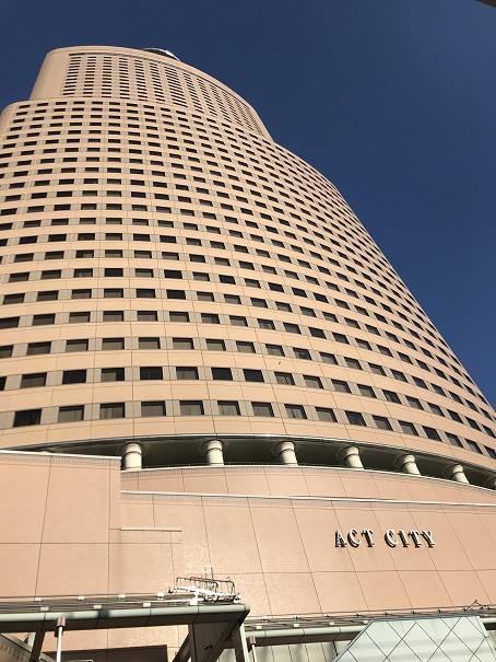 【写真】アクトシティ浜松の中枢たるアクトタワー