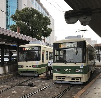 【写真】広電の路面電車