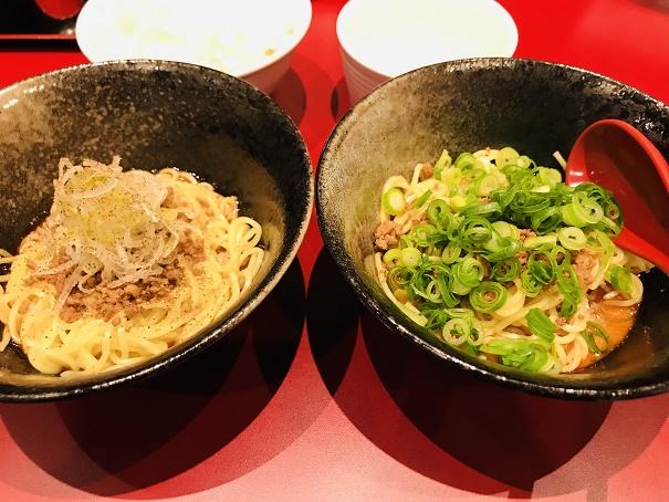 【写真】汁なし担々麺2つのセット