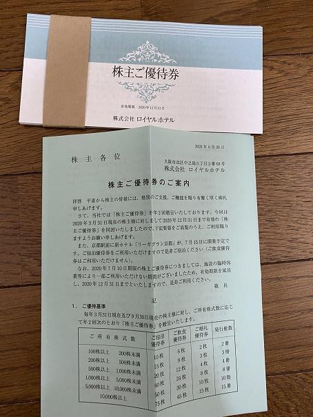 【写真】ロイヤルホテルの割引券