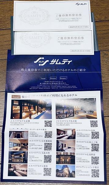 【写真】サムティの優待券は利用できるホテルが増えて使い勝手が良くなった。